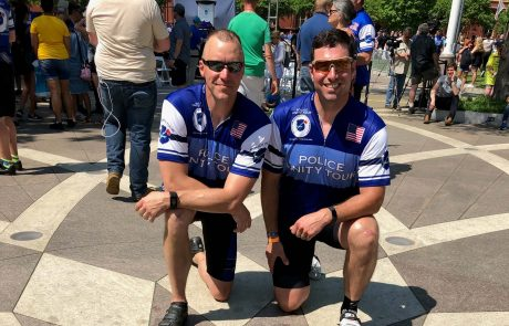 Officer Ford and Officer Clauhs Participate in Police Unity Tour