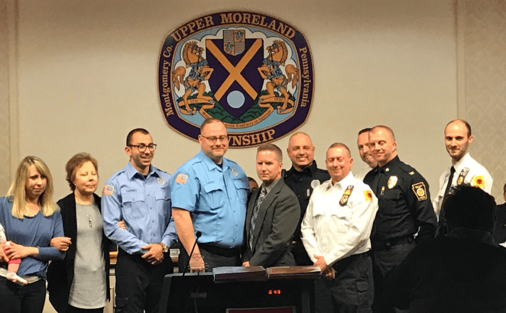 Upper Moreland Police Officers Receive Award for CPR