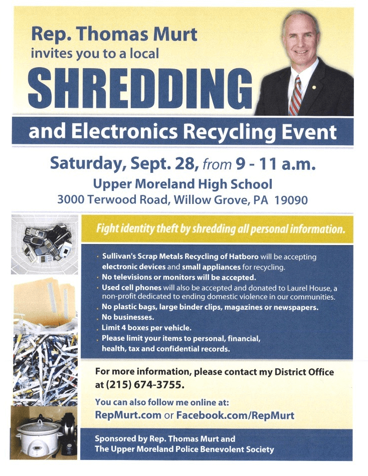 Rep. Thomas Murt Shredding Event
